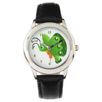 Green Butterfly Graphic Watch