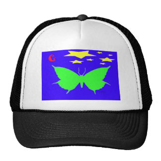 Green Butterfly Trucker Hats