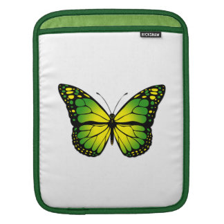 Green butterfly iPad sleeve