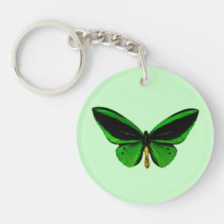 Green Butterfly Key Chain