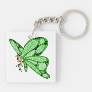 Green Butterfly Key-Chain Acrylic Keychain
