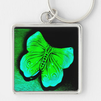 Green Butterfly Key Ring
