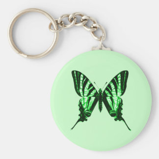 Green Butterfly Keychain