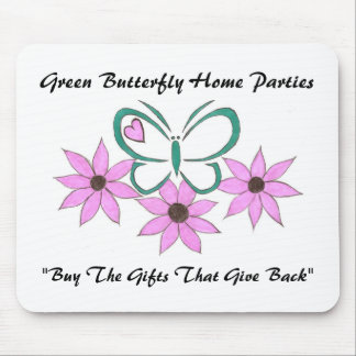 Green Butterfly Logo Mouse Pad