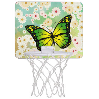 Green butterfly mini basketball hoop