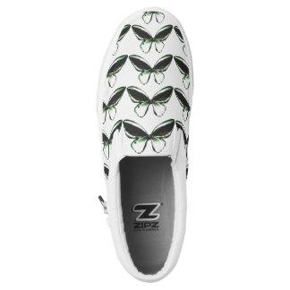 Green Butterfly Pattern Shoes