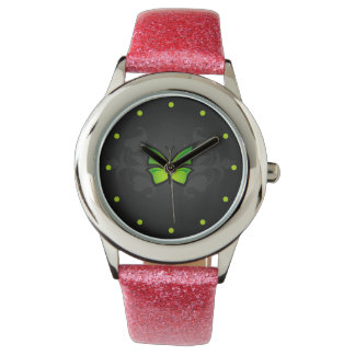 Green Butterfly Wristwatch