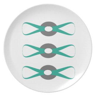 green button plate