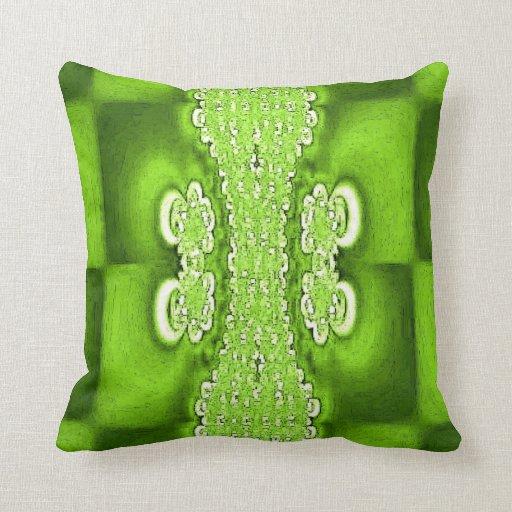 Green Button Up American MoJo Pillows