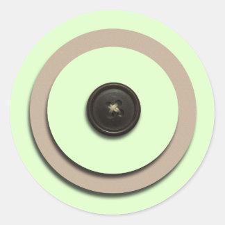 Green Buttons Brackets Envelope Seals Round Sticker