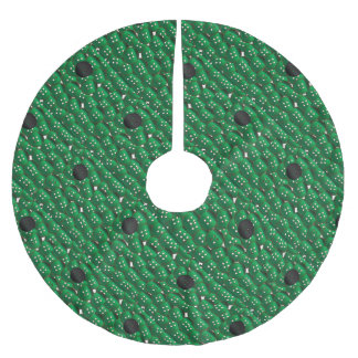 Green Buttons Brushed Polyester Tree Skirt