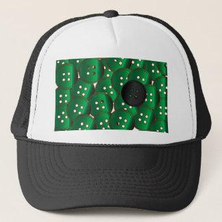 Green Buttons Trucker Hat
