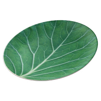 Green Cabbage Leaf 0933 Plate