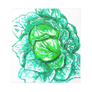 Green Cabbage Watercolor 2 Notepad