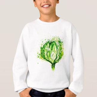 Green Cabbage Watercolor Sweatshirt