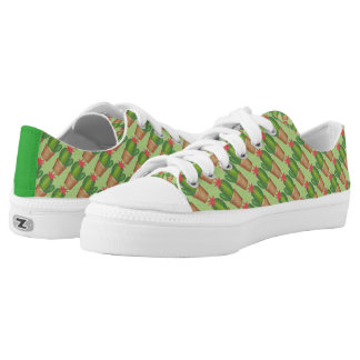 Green Cactus Cacti Succulent Potted Plant Sneakers