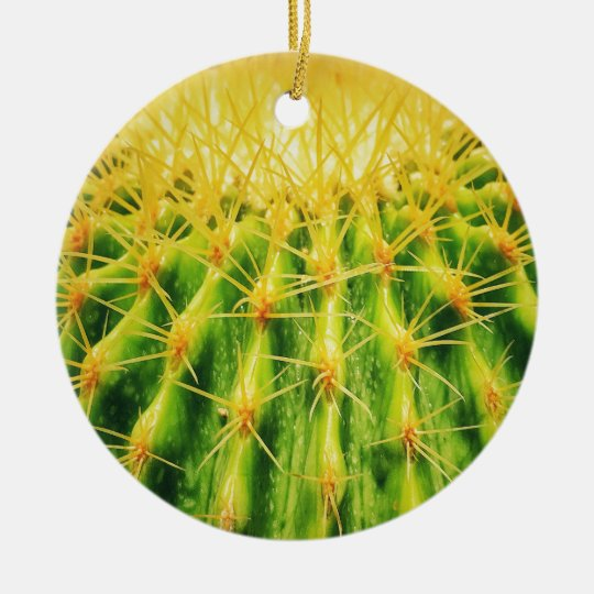 Green Cactus Dble-sided Ornament