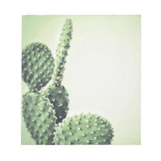 Green cactus notepad