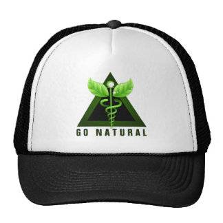 Green Caduceus Icon Alternative Medicine Emblem Cap