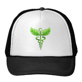 Green Caduceus Medical Symbol Alternative Medicine Cap