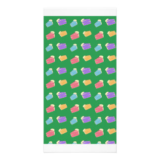 Green cake pattern picture card