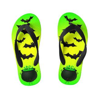 Green Caldron and Bats Kid's Thongs