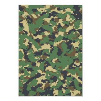 Green camo 9 cm x 13 cm invitation card