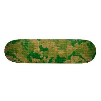 Green Camo Burlap Texture Skate Deck