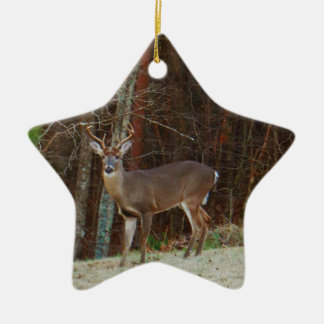 Green Camo,Camouflage Deer personalized Ceramic Star Decoration