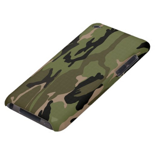 Green Camo Barely There iPod Case
