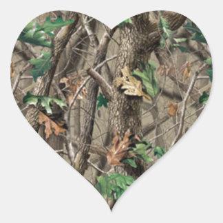 Green Camo Heart Sticker