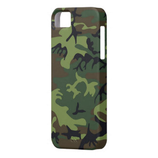 Green Camo iPhone 5S Shell w/ID,Credit Card Holder iPhone 5 Covers