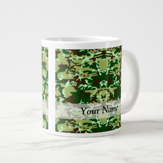 Green camo jumbo mug