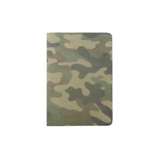Green Camo Passport Cover for a Manly Dude