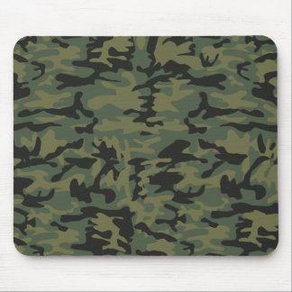 Green camo pattern mousepads