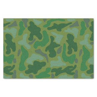 Green Camo Pattern Teen Boy Tissue Paper