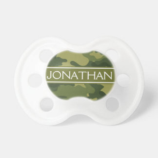 Green Camo Pattern with Name - Baby Boy Dummy