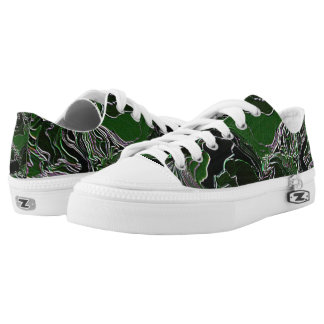 Green Camo Printed Shoes
