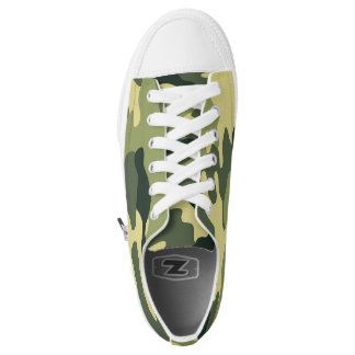 Green Camo shoes, trendy camouflage sneaker Printed Shoes