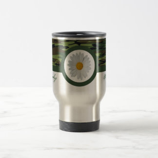 Green Camo Travel Mug