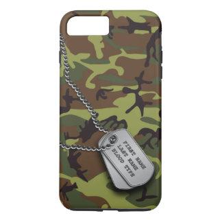 Green Camo w/ Dog Tags iPhone 8 Plus/7 Plus Case
