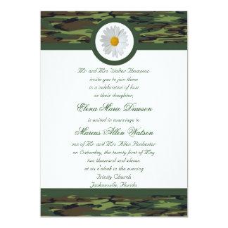 Green Camo Wedding Invitation