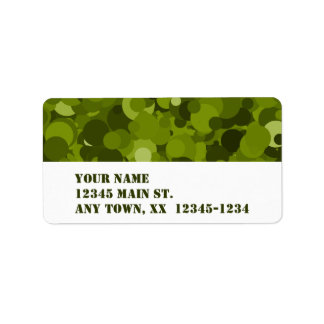 Green Camouflage Address Label