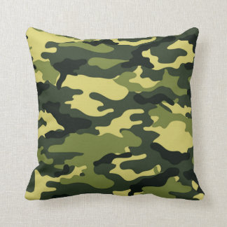 Green camouflage American MoJo Pillow