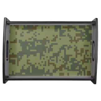 Green Camouflage Army pattern Serving Tray