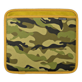 Green camouflage army texture iPad sleeve