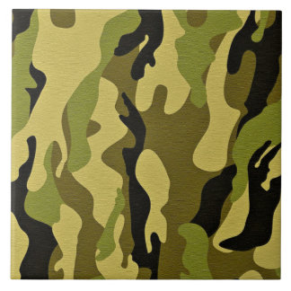 Green camouflage army texture tile