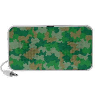 Green Camouflage Audio Speakers