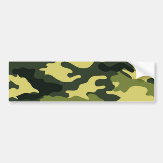 Green camouflage bumper sticker