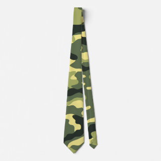 Green Camouflage Camo texture Tie